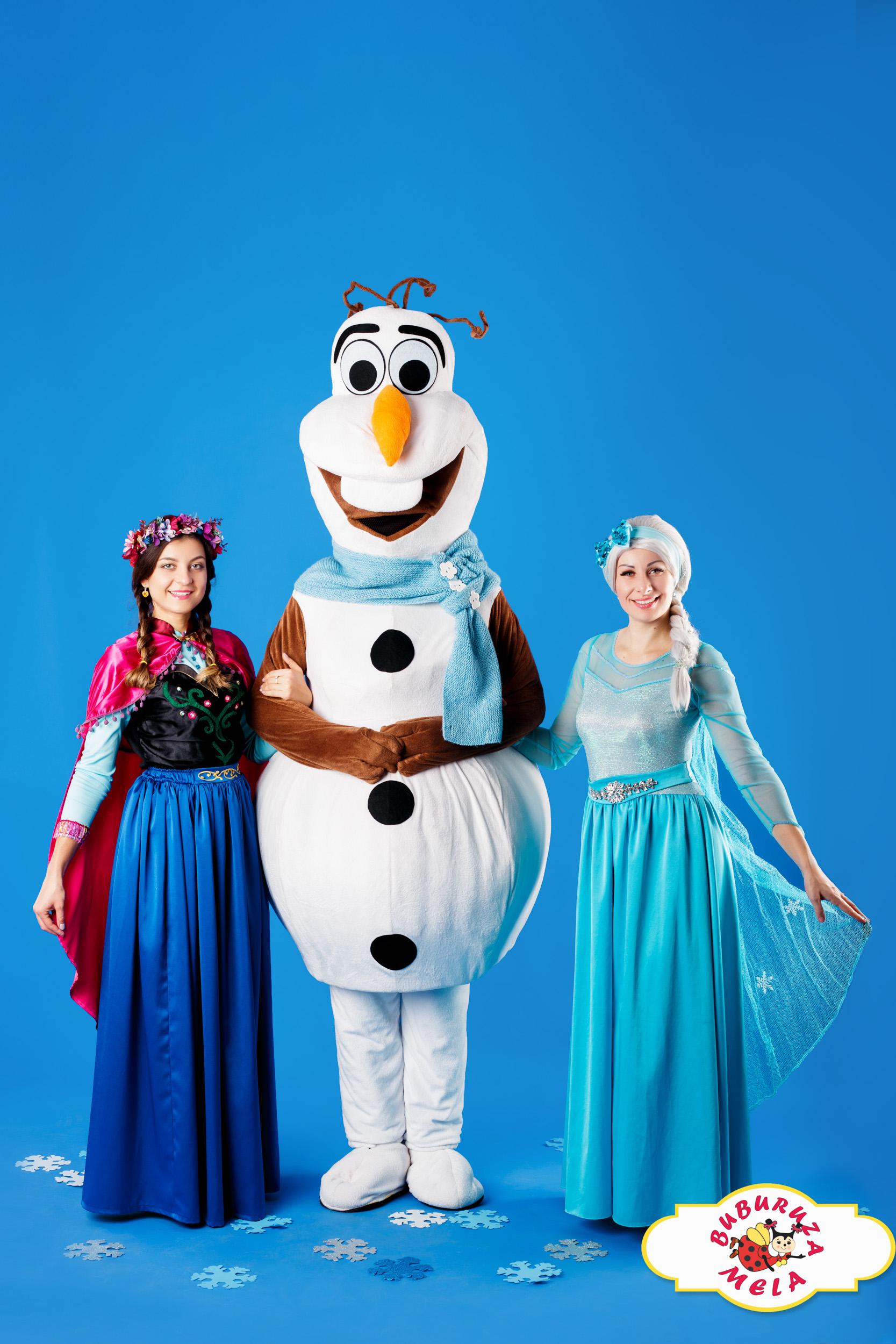 Elsa, Ana și Olaf